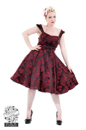 Red Marie Antoinette Gothic Long Dress. Str 36-46. Also available in plus size. Kr 590-.