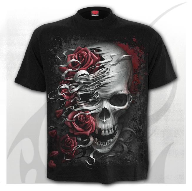 Skulls and roses t-skjorte str S-2Xl pris 300-,