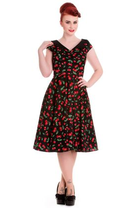 Cherry Pop 50s Dress Str XS-M Kr 690,-