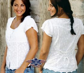 westernbluse dame Virginia str S-3Xl Pris:750-,