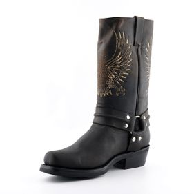 Biker boots Bald Eagle brown Goodyear Welted Leather upper Soft Leather lining Rubber Soles Made in Mexico str 37-46 Pris 2500-,
