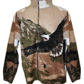 Størrelse S-XL varenummer LW Fleece Eagle brown, pris : 500,-