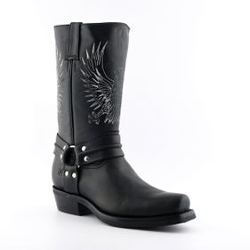 Biker boots Bald Eagle black Goodyear Welted Leather upper Soft Leather lining Rubber Soles Made in Mexico str 37-46 Pris 2500-,